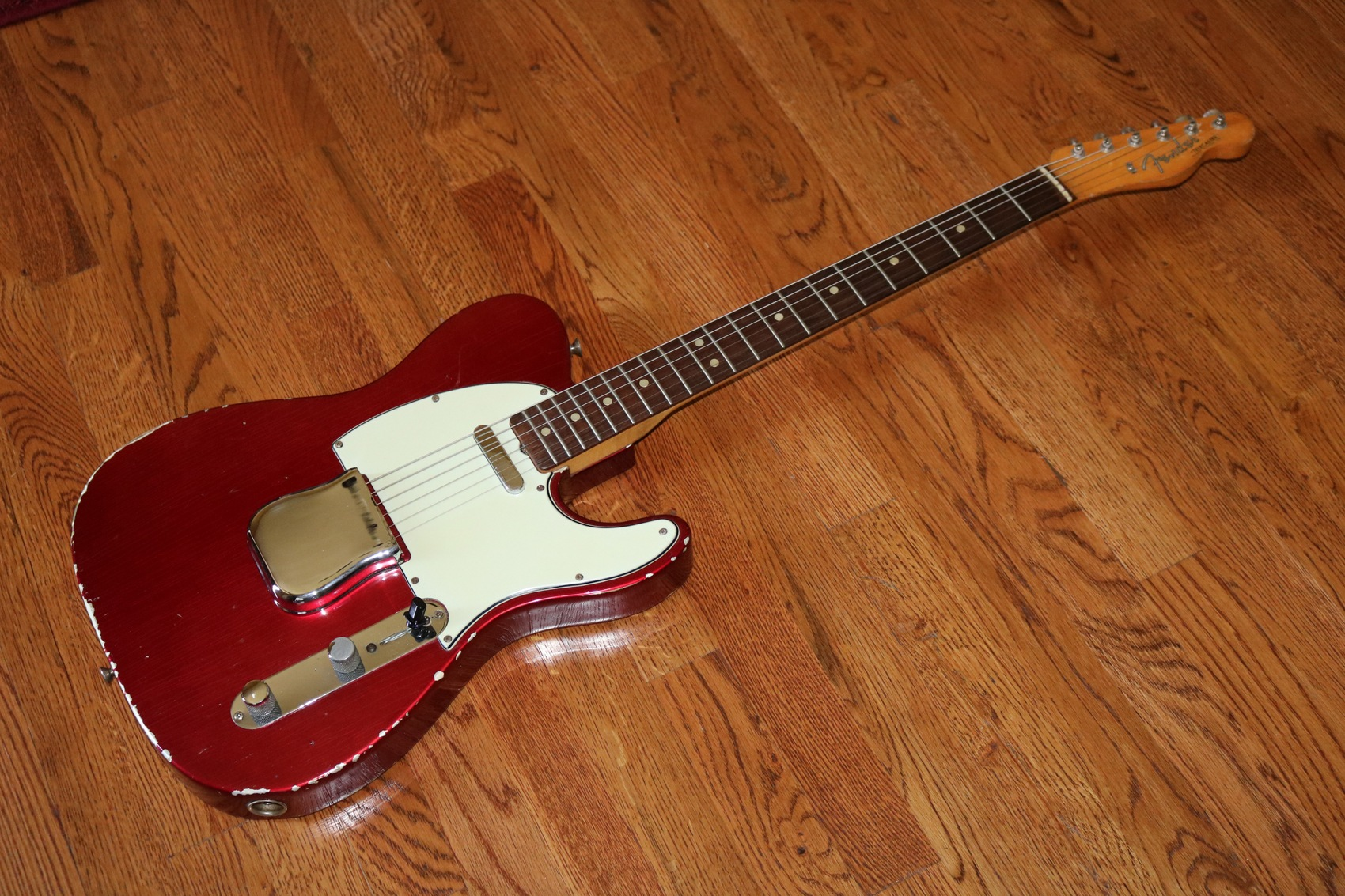 1965 fender telecaster candy apple red garys classic guitars vintage guitars llc. Black Bedroom Furniture Sets. Home Design Ideas