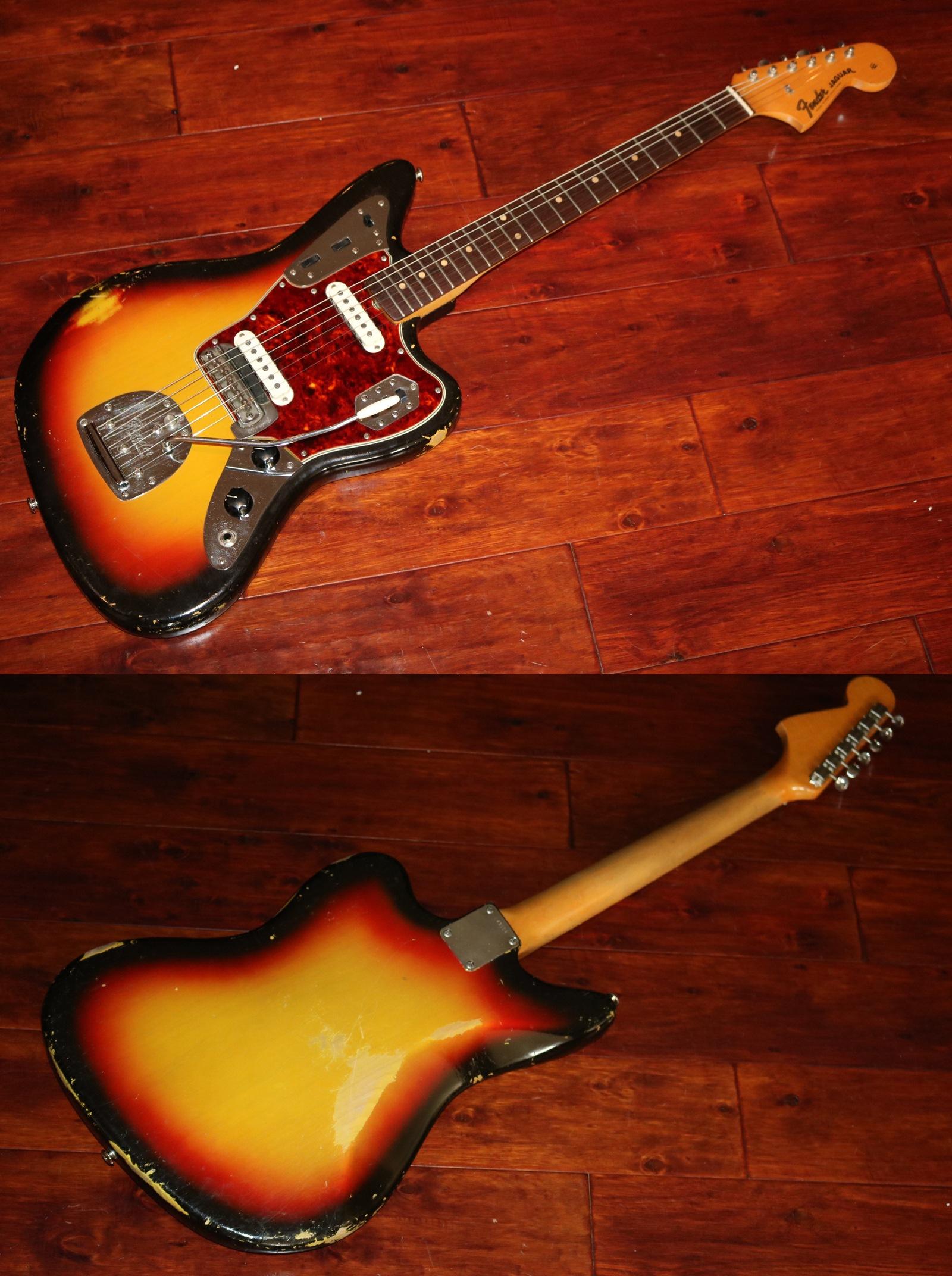 guitars vintage sunburst tone guitar fender in jaguar en
