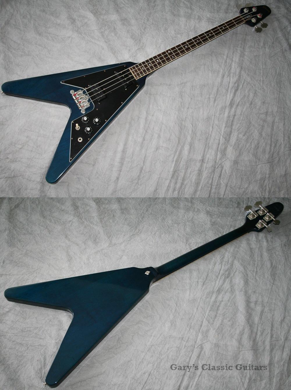 1982 Gibson Flying V Bass Blue GIB0100